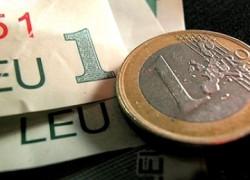 Moneda naţională se apreciază joi până la un curs de referinţă de 4,1788 lei/euro