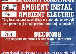 Expo Transilvania si CCI Cluj organizeaza târgurile specializate in constructii, instalatii si mobila AMBIENT CONSTRUCT, AMBIENT INSTAL & ELECTRIC si DECOMOB
