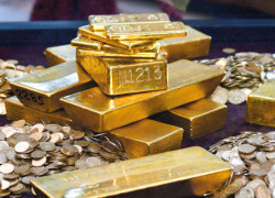 Pretul aurului a ajuns la maxima ultimelor trei saptamani