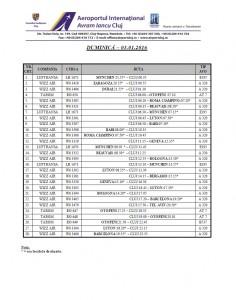 Program zboruri - Sarbatori Iarna - duminica