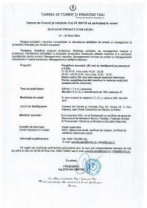 Invitatie curs MANAGER DE PROIECT la Camera de Comert si Industrie Cluj 27 - 29 mai 2016-page-001