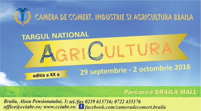 Macheta Targul National AgriCultura 2016